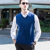 伯克龙 纯羊绒衫 男士加厚款保暖冬季条纹 修身毛衣外套 男式拉链领休闲针织打底衫 Z88298【96.3%羊绒+3.7%羊毛】