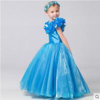 迪士尼儿童长款女童蓬蓬裙表演出礼服白雪公主灰姑娘同款公主裙