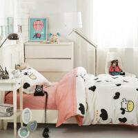 御目 儿童床品 三件套夏天纯棉全工艺学生宿舍被套枕套单人床套件宝宝小孩被罩柔软透气床单1.2米全棉baby床上用品