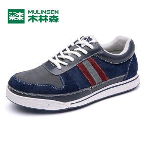 木林森男鞋 秋季新品男士日常运动休闲鞋 百搭耐磨男板鞋05367618