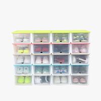 当当优品 滑盖抽屉式塑料防潮加厚透明鞋盒 6个装  颜色多选