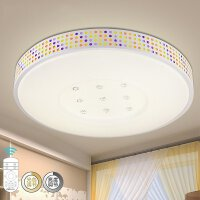 NVC 雷士照明 LED吸顶灯 24W 智能遥控无极调光卧室灯