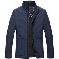 伯思凯 2014秋装新款纯色商务夹克 男士休闲加大码中长款外套