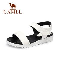 Camel/骆驼女鞋 2017夏季新款 休闲百搭通勤妈妈鞋简约魔术贴凉鞋