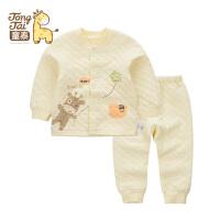 童泰秋冬新品男女宝宝保暖内衣套装0-2岁婴儿衣服长袖上衣裤子