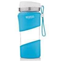 日本泰福高玻璃水杯男士运动便携耐热玻璃杯办公杯车载杯杯子0.4L
