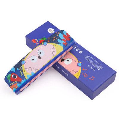 美乐 口琴儿童音乐玩具宝宝启蒙吹奏乐器16排双孔卡通动物口风琴