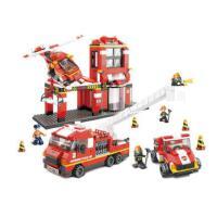 小鲁班消防系列 创意积木消防总动员模型6岁男孩益智拼装积木