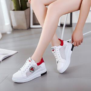 新款夏季休闲鞋圆头系带透气板鞋低帮学院学生鞋韩版韩版运动单鞋女鞋小白鞋