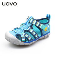 【满200减100】UOVO2017童鞋新款夏季包头儿童凉鞋男童女童搭扣镂空沙滩鞋中小童 虹