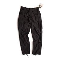 ROTHCO 新款休闲工装纯棉直筒黑色经典束口长裤男2644