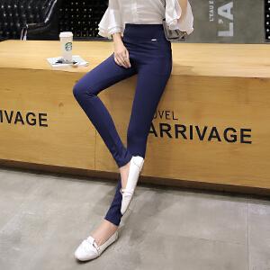 新款打底裤外穿高腰弹力紧身显瘦铅笔裤小脚裤韩版大码长裤潮LB701