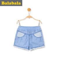 巴拉巴拉童装女童短裤宝宝童裤牛仔裤2017夏季新款小童儿童裤子