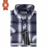 Rouse洛兹男正品夏款商务休闲短袖格子衬衫修身版 DVC360026D/VC360027