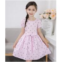 童装新款儿童中大童韩版女童连衣裙夏装纯棉公主裙子 可礼品卡支付