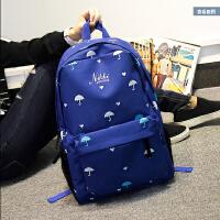 双肩包男女韩版时尚潮休闲学院风印花高中学生书包旅行包电脑背包