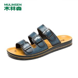 木林森潮男拖鞋凉拖鞋男士拖鞋夏季韩版个性一字拖休闲沙滩鞋男21522118