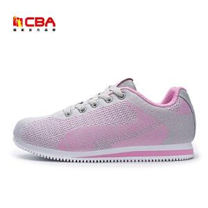 CBA女子跑步鞋 2017新款飞织透气轻便舒适运动休闲跑步鞋潮鞋