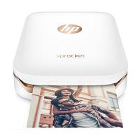 【当当自营】惠普/HP 小印sprocket手机便携式口袋照片打印机蓝牙家用迷你相片冲印(白色)