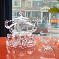 北斗正明 功夫花草整套茶具茶壶红茶具茶杯茶座玻璃茶壶带过滤
