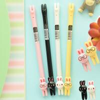 三年二班●韩国文具 可爱兔子中性笔 创意动物学生写字笔 水笔