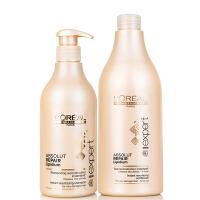 L'OREAL/欧莱雅 致臻修护护发素750ml+致臻修护洗发水500ml洗护套装 专业洗护 深层修护