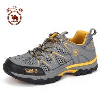 骆驼牌户外 徒步网鞋减震透气包裹性男款徒步鞋