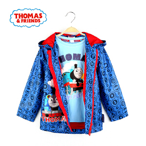 【秒】托马斯童装男童秋装外套卡通满印连帽上衣中大童防风外套托马斯和朋友