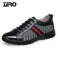 Zero零度运动休闲鞋 男士新款轻便舒适飞织布系带男士户外休闲鞋Y71065