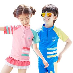 【泳衣建议对照体重拍大一点哦】kocotree2017新款儿童泳衣男童女孩分体中大童防晒速干游泳衣女童泳装