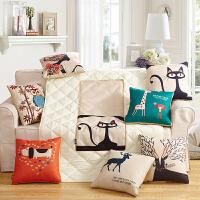 【支持礼品卡支付】抱枕被子两用棉麻抱枕被办公室多功能汽车沙发靠垫被靠枕抱枕可折叠