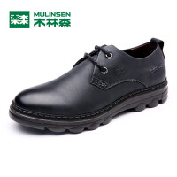 木林森男鞋 新品男士商务休闲皮鞋 耐磨厚底防滑男皮鞋05367120