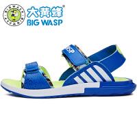 大黄蜂男童鞋 夏季儿童凉鞋男大童沙滩鞋 青少年漏趾男生运动凉鞋