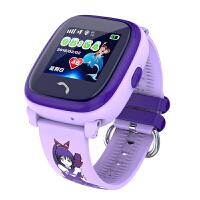 智能儿童手表通话插卡远程监听 防水 定位足迹跟踪 学生卡通手表 电子栅栏 触控切换 紫