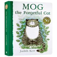 华研原版英文绘本纸板书Mog the Forgetful Cat 爱忘事儿的小猫格格