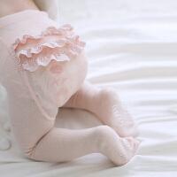 Yinbeler女婴儿女童3层PP蕾丝花边连裤袜0-1岁宝宝长袜子春秋冬款棉袜打底裤打底袜
