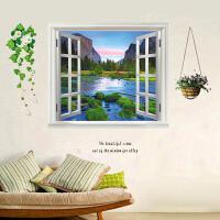 假窗墙贴卧室温馨浪漫床头墙贴画客厅背景墙壁贴纸房间装饰品创意