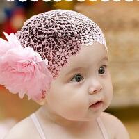 货到付款 Yinbeler 婴儿童发带头饰宝宝发饰头带女婴头花蕾丝0-1-2岁百天可爱发箍公主头饰品