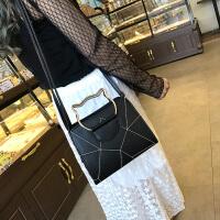 小包包2017新款卡通猫耳手提包女包百搭拼接单肩潮流女士包包