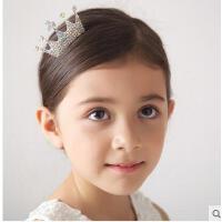 小皇冠水晶公主头饰小钻石王冠插梳新款韩版儿童发饰皇冠女童