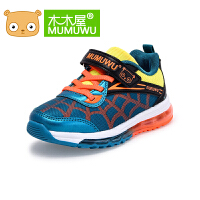 木木屋童鞋男女童运动鞋秋季网布透气气垫鞋中大童青少年跑步鞋子