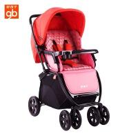 好孩子推车 婴儿推车 高景观宝宝推车避震可躺可坐手推车折叠婴儿车C400 红色(C400-M310BR)