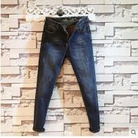 新款时尚韩版修身长裤青年直脚时尚潮男裤子男士牛仔裤