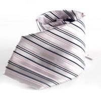 YOUNGOR雅戈尔男士专柜正品 新款涤丝领带 紫色条纹