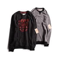 Levis/李维斯 美国直邮 新款男士加绒圆领字母LOGO卫衣 3LYLK4632CC