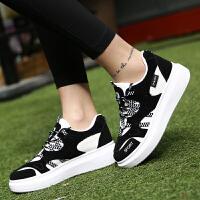 春季女鞋韩版百搭休闲鞋耐磨学生运动鞋女式跑步鞋系带鞋子女