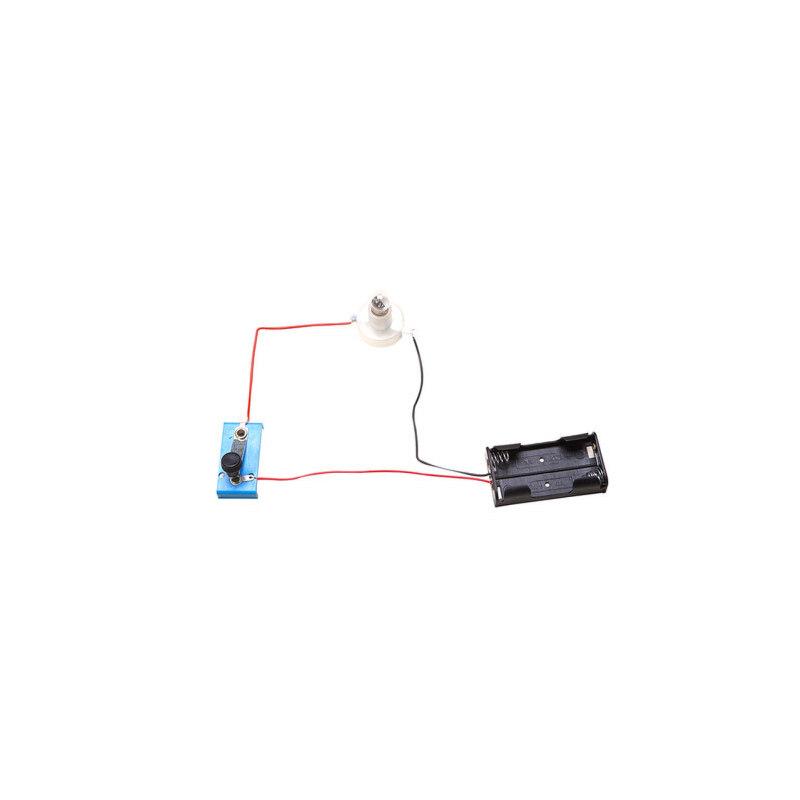 儿童礼品科学实验玩具 科技小制作小学生电路灯座开关灯泡 导线电池盒