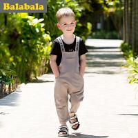 巴拉巴拉儿童短袖套装男小童宝宝2017夏季新款短袖 幼童男童两件套