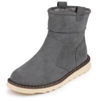 冬季雪地靴男短筒保暖男士加绒二棉鞋男鞋靴子男休闲男靴