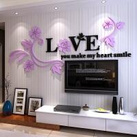 创意love水晶亚克力3d立体墙贴画客厅床头卧室背景墙壁房间装饰品